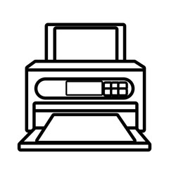 Printer technology device isolated on white background, vector illustration.