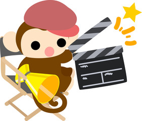 The pretty little monkey which does the figure of the movie director