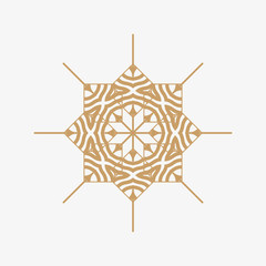 The symbol and runes for background. Symbol for design tile, wallpaper, textiles and more. Golden color of the symbol.