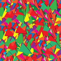 Seamless abstract ornamental pattern of triangles