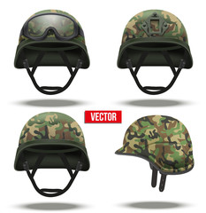 Set of Military tactical helmets camouflage color