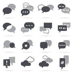 Vector Greyscale Chat Bubbles