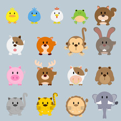 circle round cartoon color animal illustration