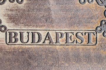 Budapest city sign