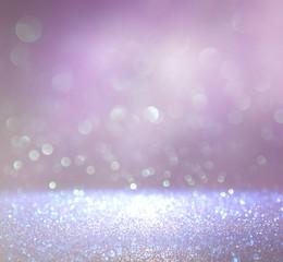 Pastel glitter vintage lights background. de-focused