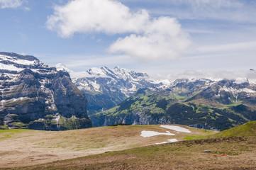 Wengen, Berner Oberland, Alpen, Kleine Scheidegg, Lauberhorn, Wanderweg, Wengeneralp, Wanderferien, Schweizer Berge, Sommer, Schweiz