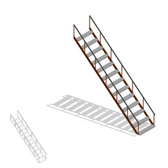 Stairs. 3d Vector illustration.3d isometric style.