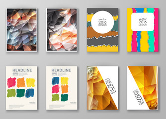 Brochure with Multicolored Backgrounds.