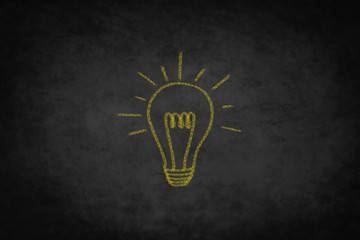 creativity concept  ,  good idea light bulb illustration