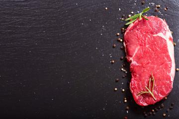 Deurstickers Vlees fresh meat with rosemary