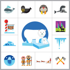 North Pole Icon Set