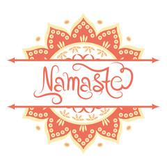 Indian greeting banner Namaste