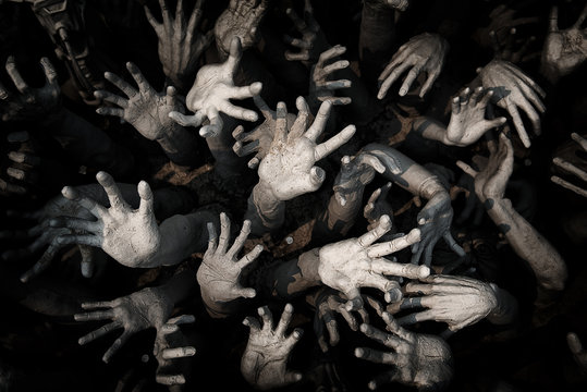 hand ghost ,zombie Bloody hands background,maniac,Blood zombie h