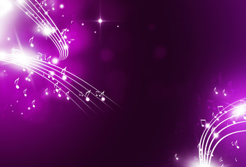 Music Notes Music Background