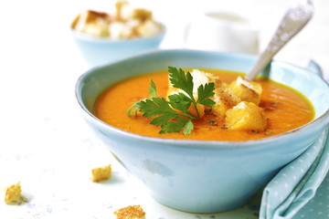 Carrot creamy soup.