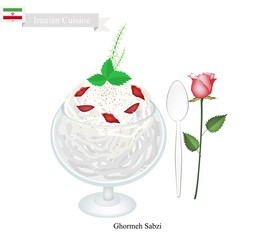 Faludeh or Iranian Rice Noodle And Rose Water Syrup