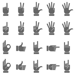 Dark Vector Hand Signs Collection 2
