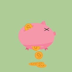 Leaking Piggy Bank