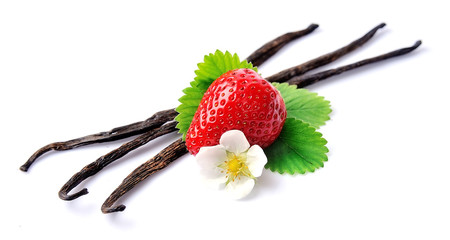 Sticks of vanilla and strawberry