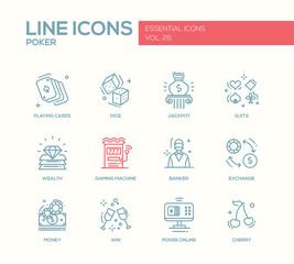 Shopping - line design icons set