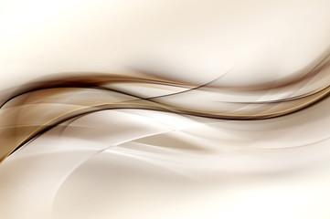 Photo sur Plexiglas Fractal waves Abstract Brown Wave Design Background