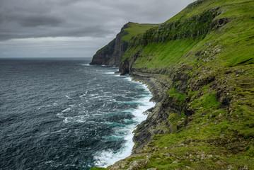 Wall Mural - Giant sea cliffs on Faroe Islands