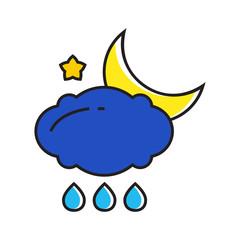 Rainy at Night Concept Icon