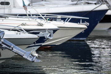 Motor boat on the lake