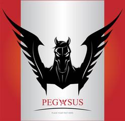 Black Pegasus Horse Head.