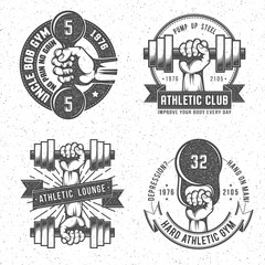 Vintage gym logo