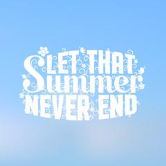Summer white lettering