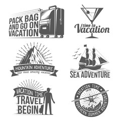 Vacation, Adventure logos