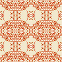 Traditional Arabic ornament seamless. Floral Ornamental pattern. Vector background