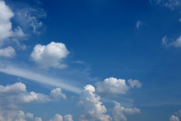 Beautiful Summer Clouds in the blue sky at Chiangmai, Northern Thailand.