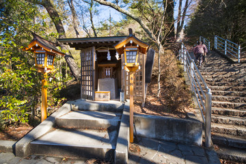 A small shrine within Arakura Sengen Shrine