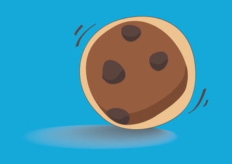 cookie cartoon vector EPS10