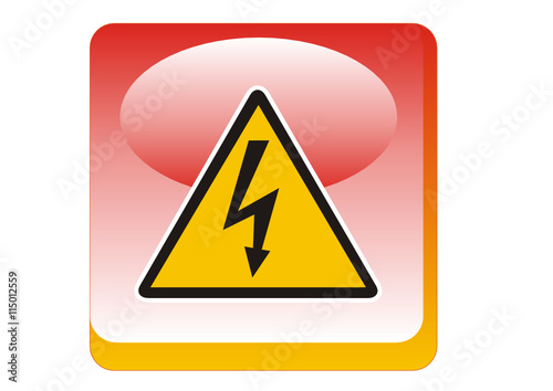 Warnzeichen-Gelb - Warnung vor gefährlicher elektrischer Spannung ...