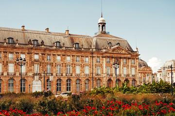 Place de la Bourse in the city of Bordeaux, France
