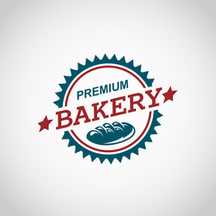 bakery label image with bread and text