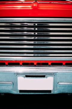 Closeup of a Vintage Car