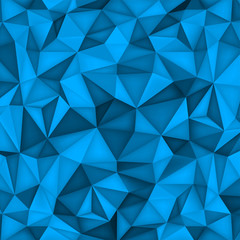 Low polygon shapes background, triangles mosaic, vector design, creative background, templates design, blue paper wallpaper