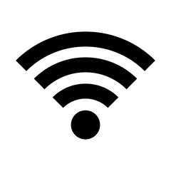 Wifi icon. Black icon on white background.