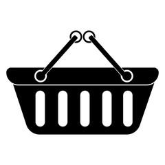 Shopping basket icon. Black icon on white background.