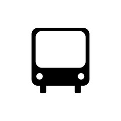 Bus icon. Black icon on white background.