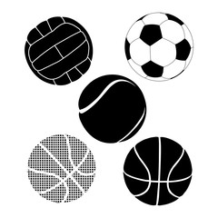 Balls icon. Black icon on white background.