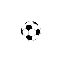 Soccer ball. Vector icon. Black icon on white background.
