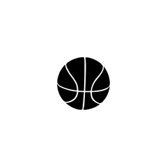 Ball for basketball icon. Black icon on white background.