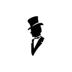 Man icon. Black icon on white background.