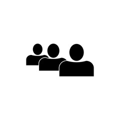 People or user icon. Black icon on white background.