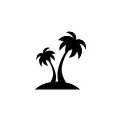 Palm icon. Black icon on white background.